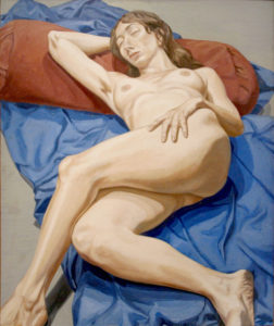 1964 - Nude on blue drape - Oil on Canvas- DimensionsUnknown