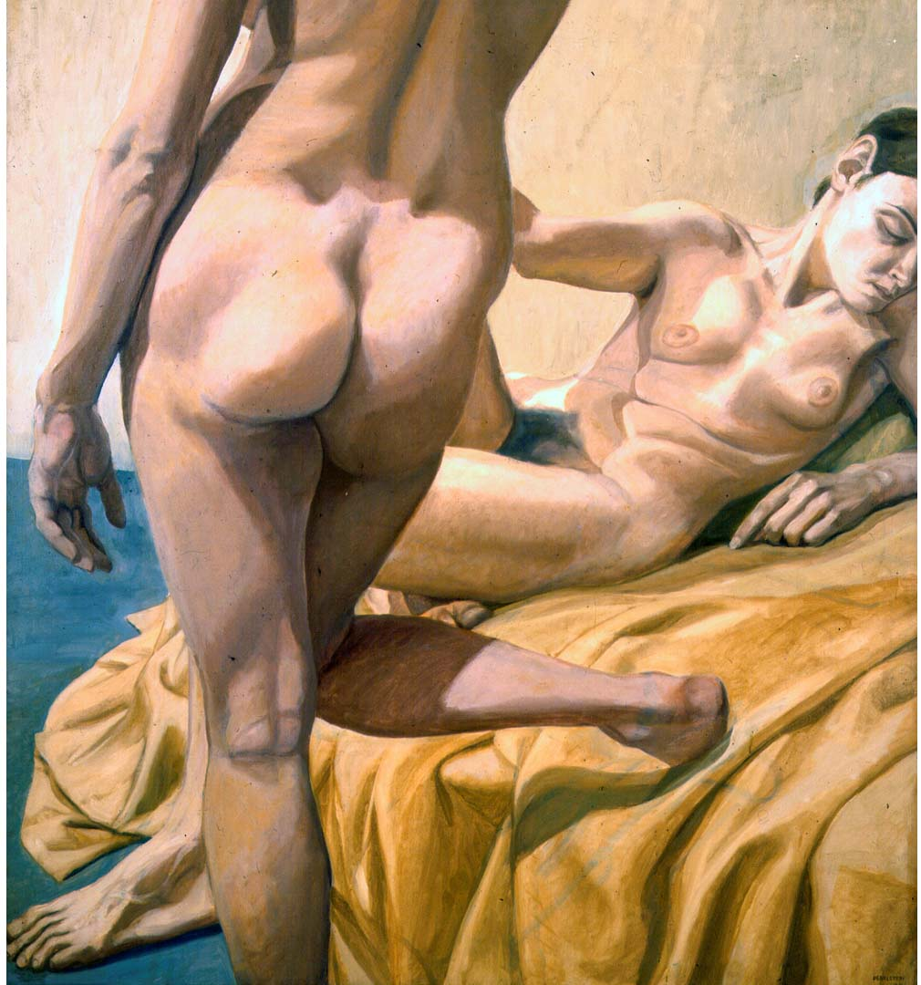 1964 Two Female Nudes Oil on Canvas 50 x 54