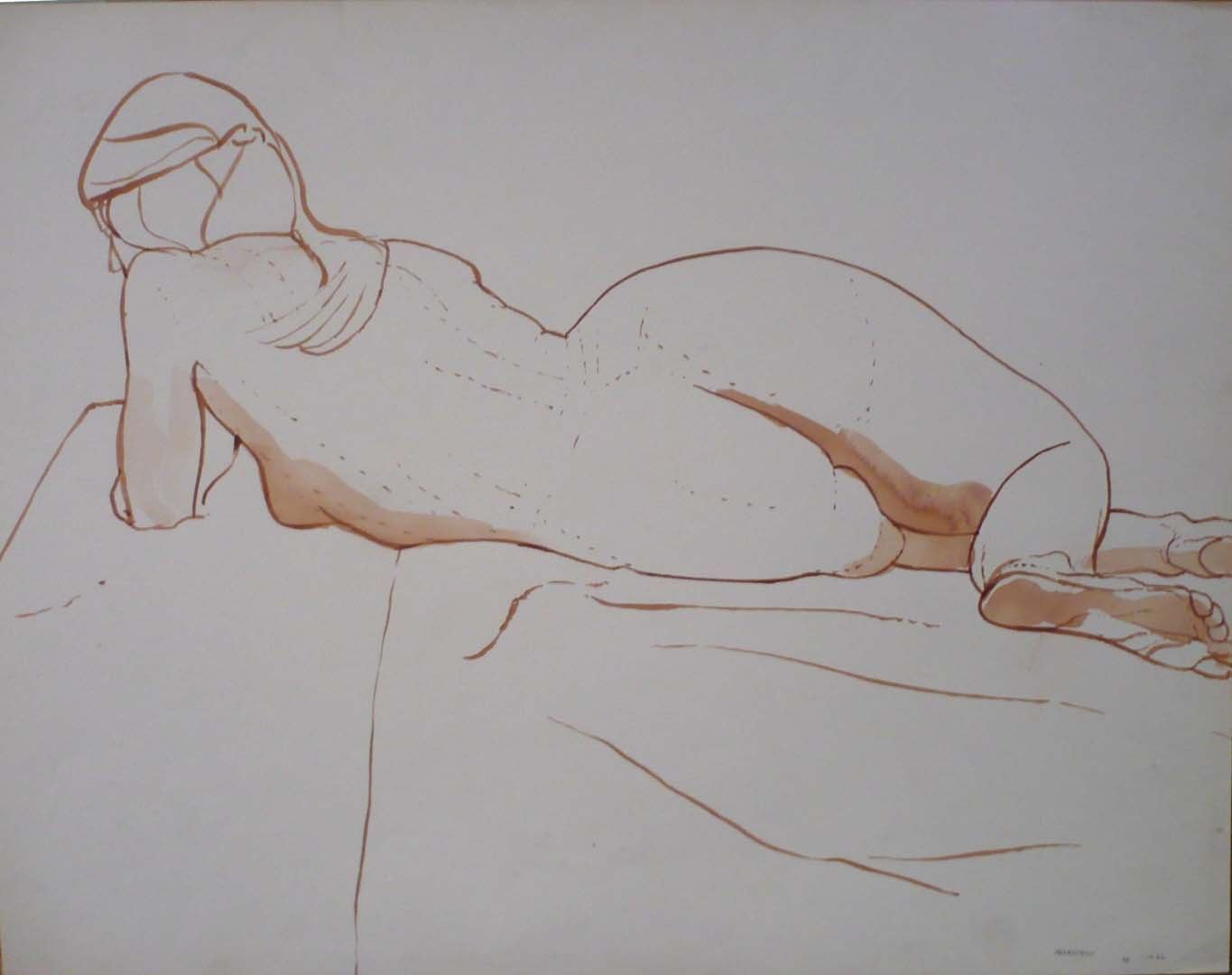 "1966 Reclined Female Model Twisted Sepia 19.875"" x 25.875"""