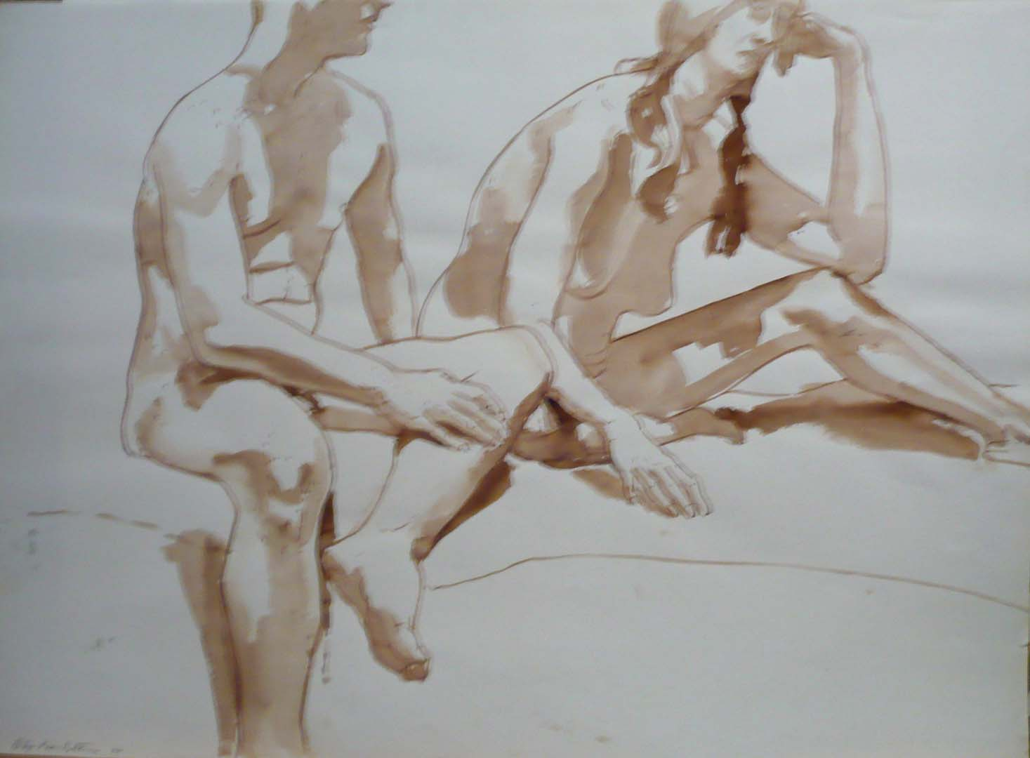 1966 Untitled (two models) Sepia 22 x 29.875