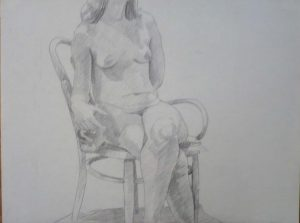1967 Seated Female Nude with Legs Crossed Pencil Dimensions Unknown