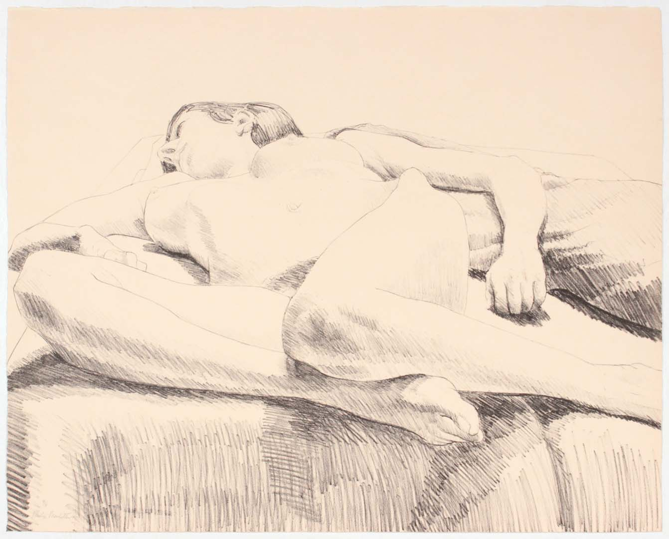 1968 Knees Front Lithograph on Paper 20.125 x 25.125