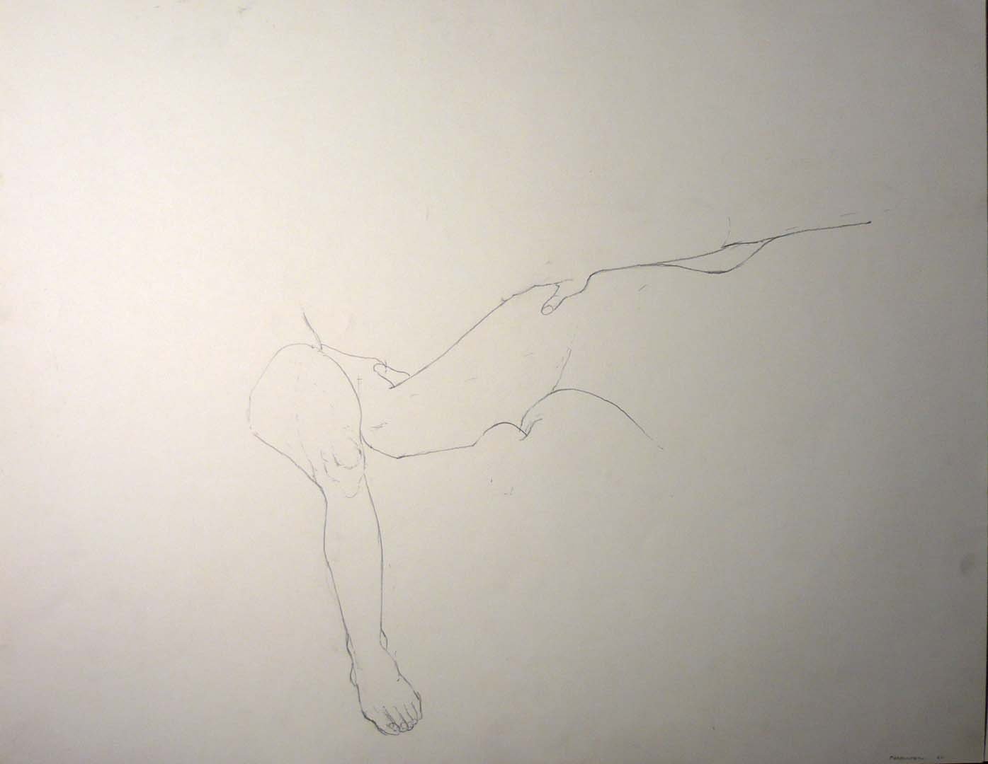 1969 Legs and a Thumb Pencil 18.875 x 23.875