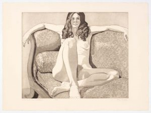 1972 Nude on Couch