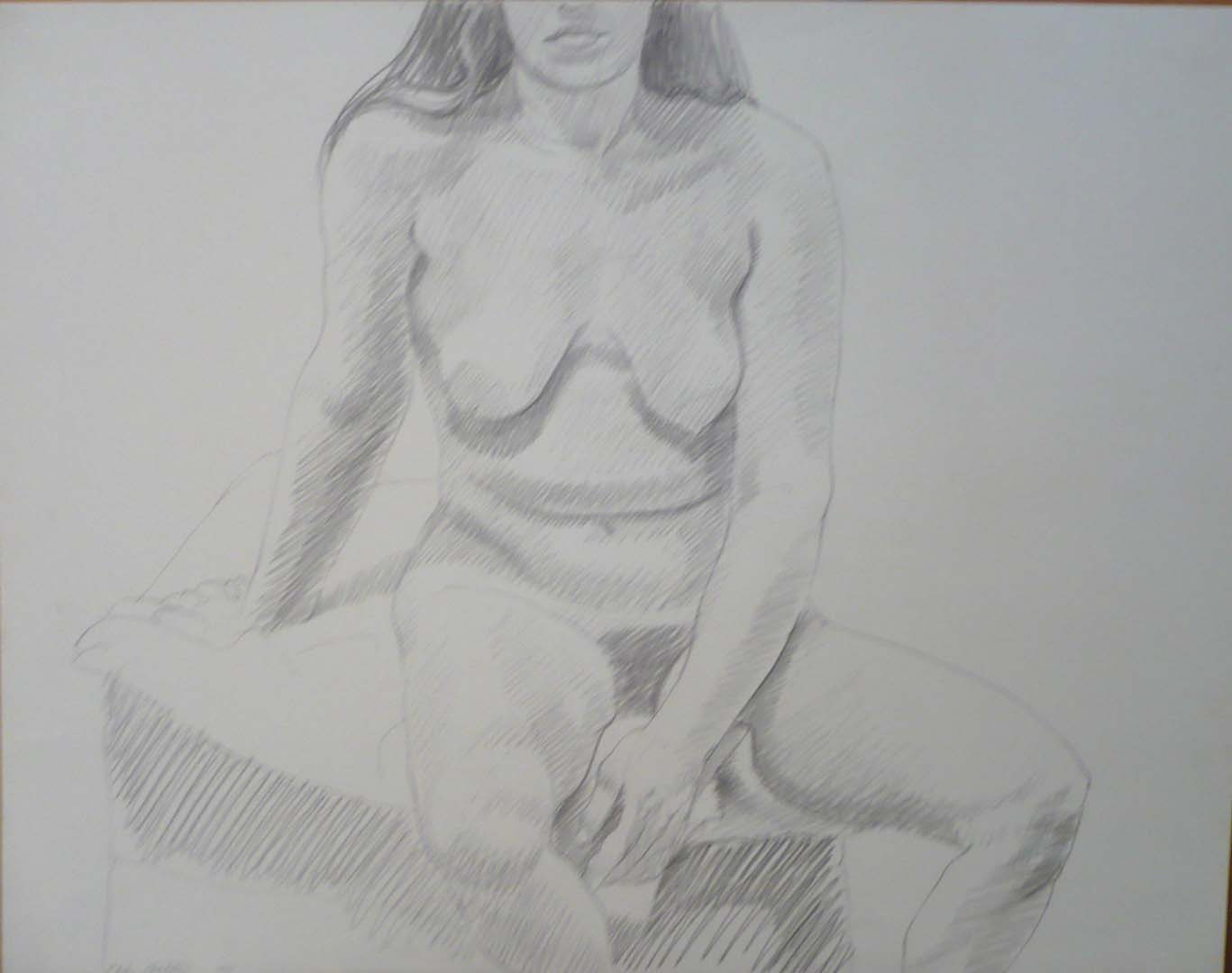 1972 Seated Model Pencil 18.875 x 24