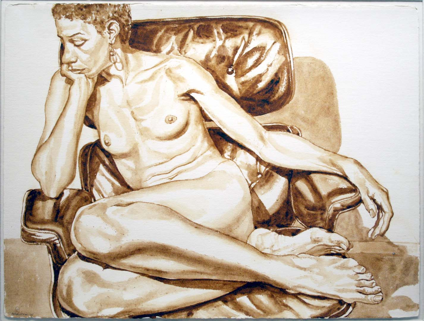 1975 UNTITLED Sepia Wash 23 x 30