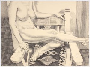 1984 Nude in New Mexico Lithograph on Paper 25 x 34