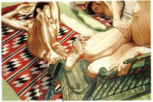 1985 Models with Mirror Aquatint Etching on Paper 36.625 x 54