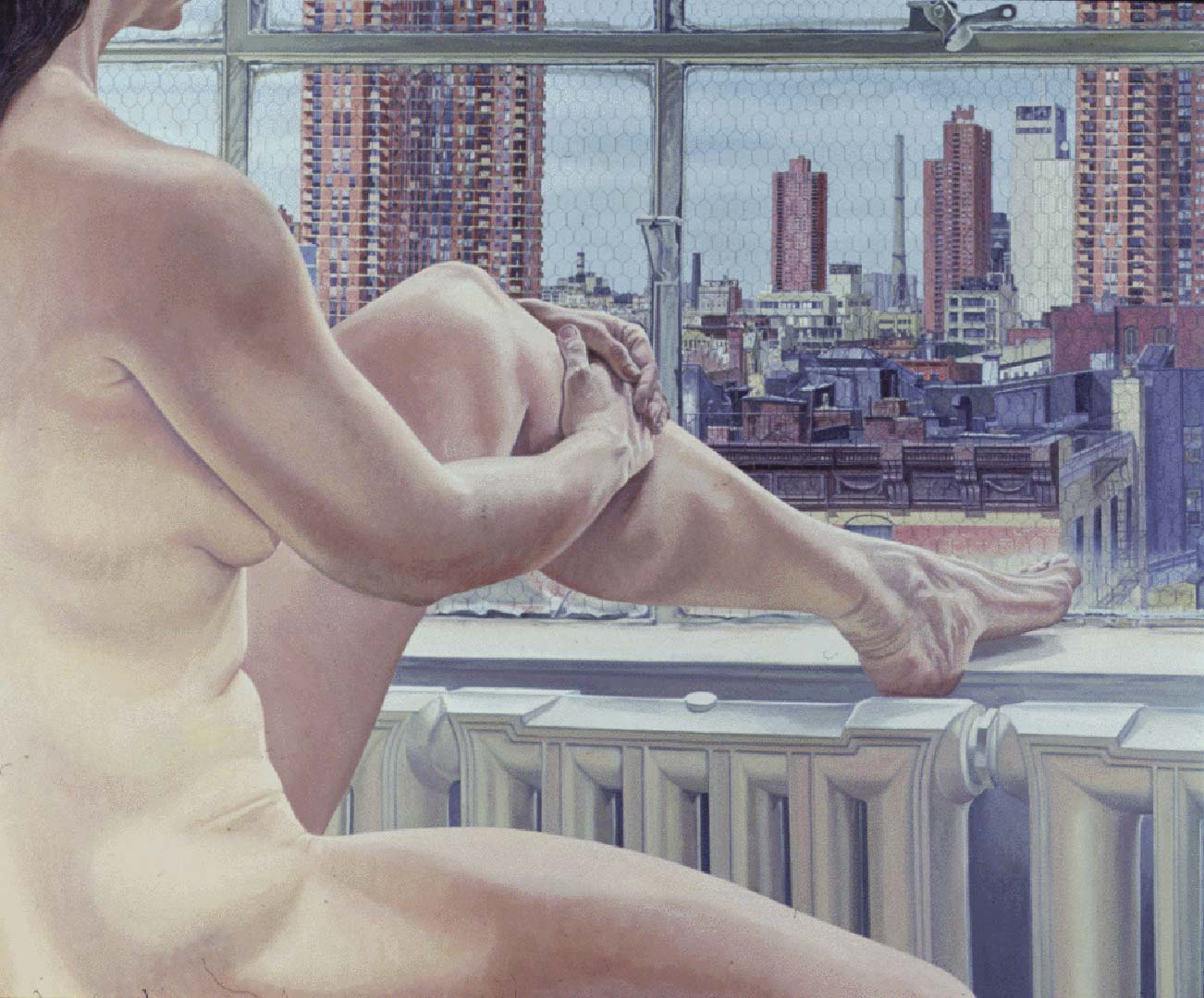 "1985 Nude and New York Oil on Canvas 60"" x 72"""