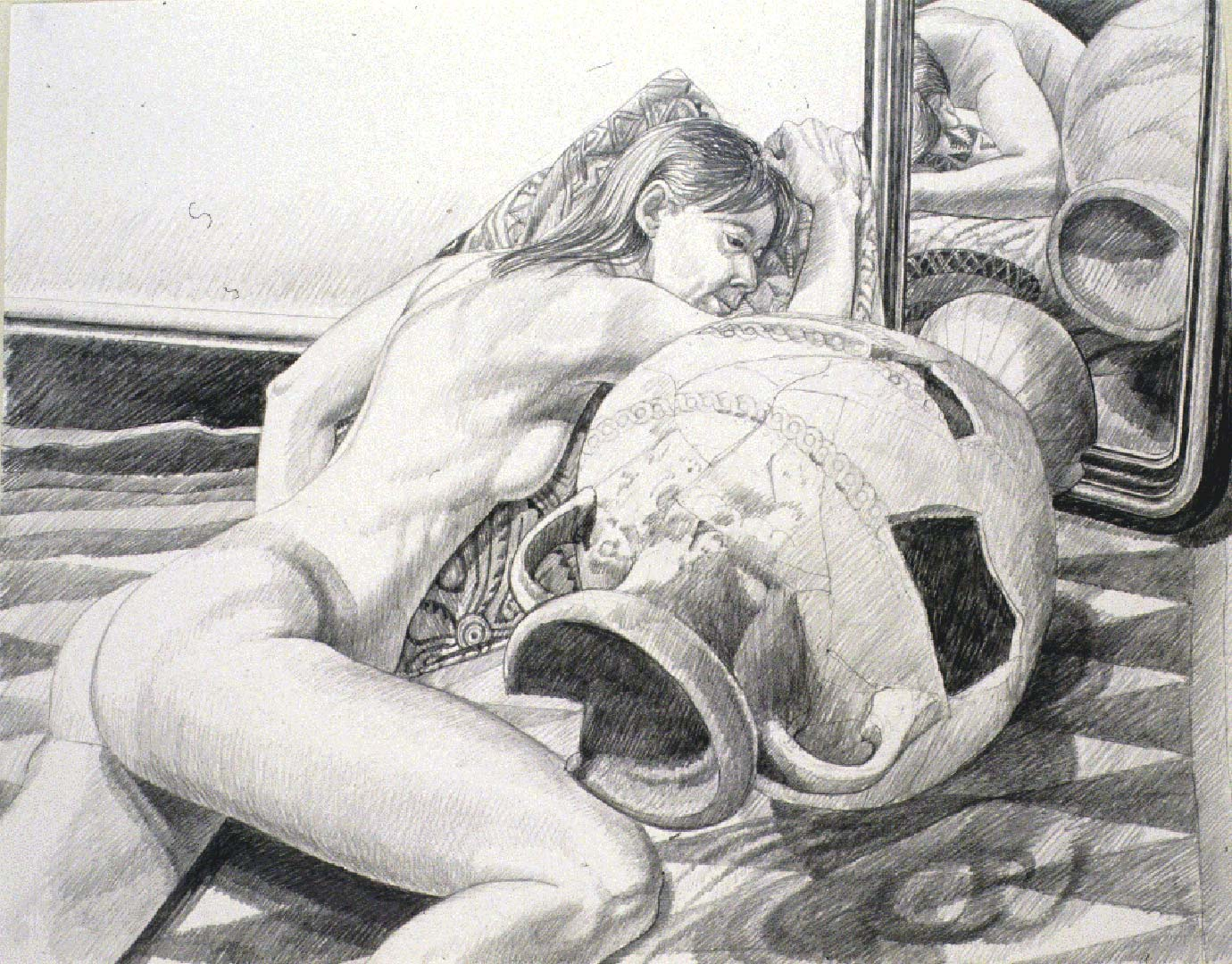 "1990 Model with Etruscan Urn Pencil 23.25"" x 29"""