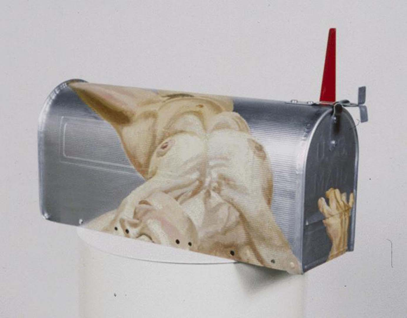 1992 Painted Mailbox for Archive American Art Oil on Mailbox Dimensions Unknown