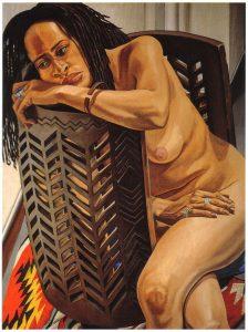 1996 Chevrons #1 Oil on Canvas 48 x 36.25