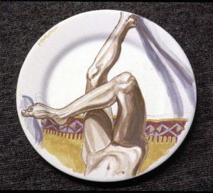 1997 Ceramic Plate Fundraiser Oil on Ceramic Plate Dimensions Unknown