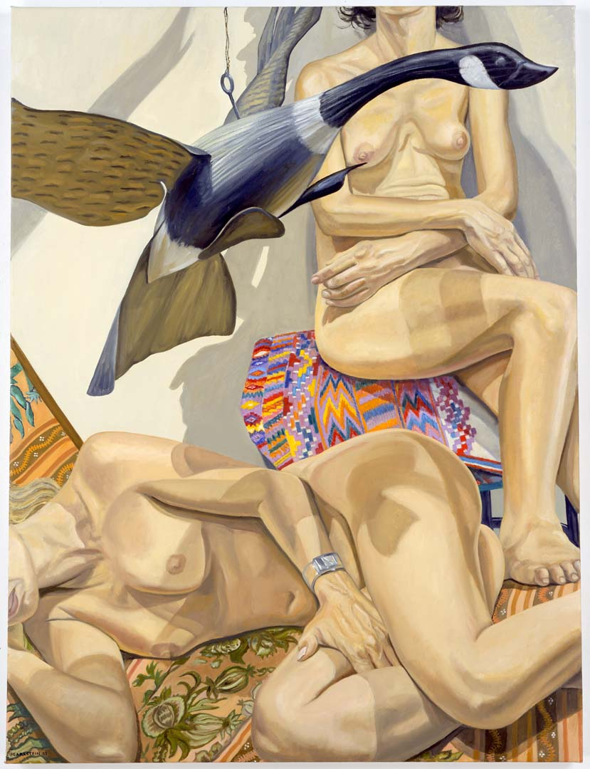 2006 The Flying Goose Decoy Oil on Canvas 48 x 36