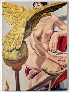2009 Model With American Eagle Weathervane Oil on Canvas 30 x 22