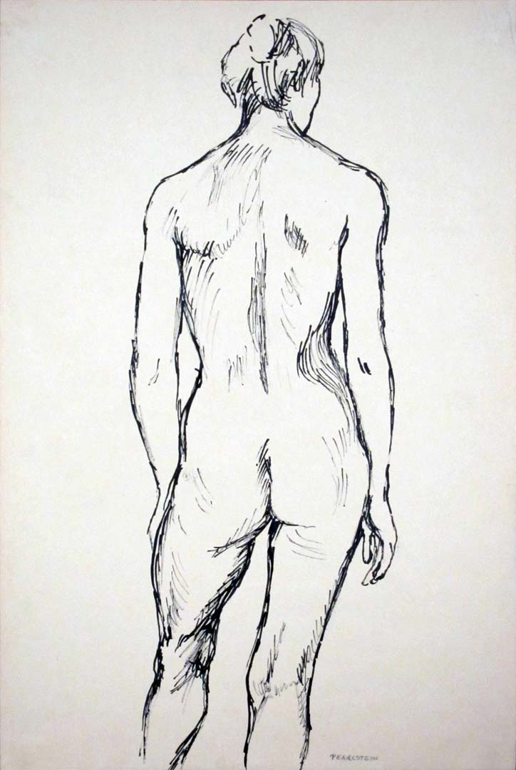 Back of Female Nude Ink 17.875 x 12