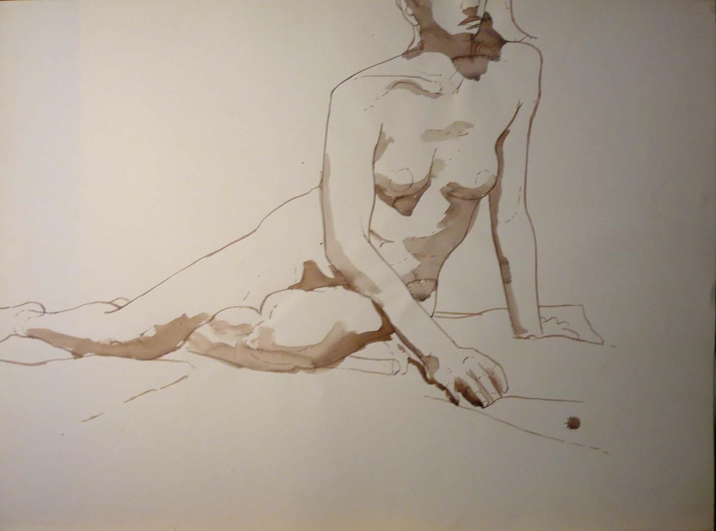 Female Model in Studio Sepia 22 x 29.875
