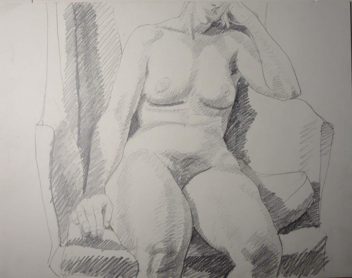 Female Model on Chair