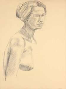 Female Nude Graphite 24 x 17.875