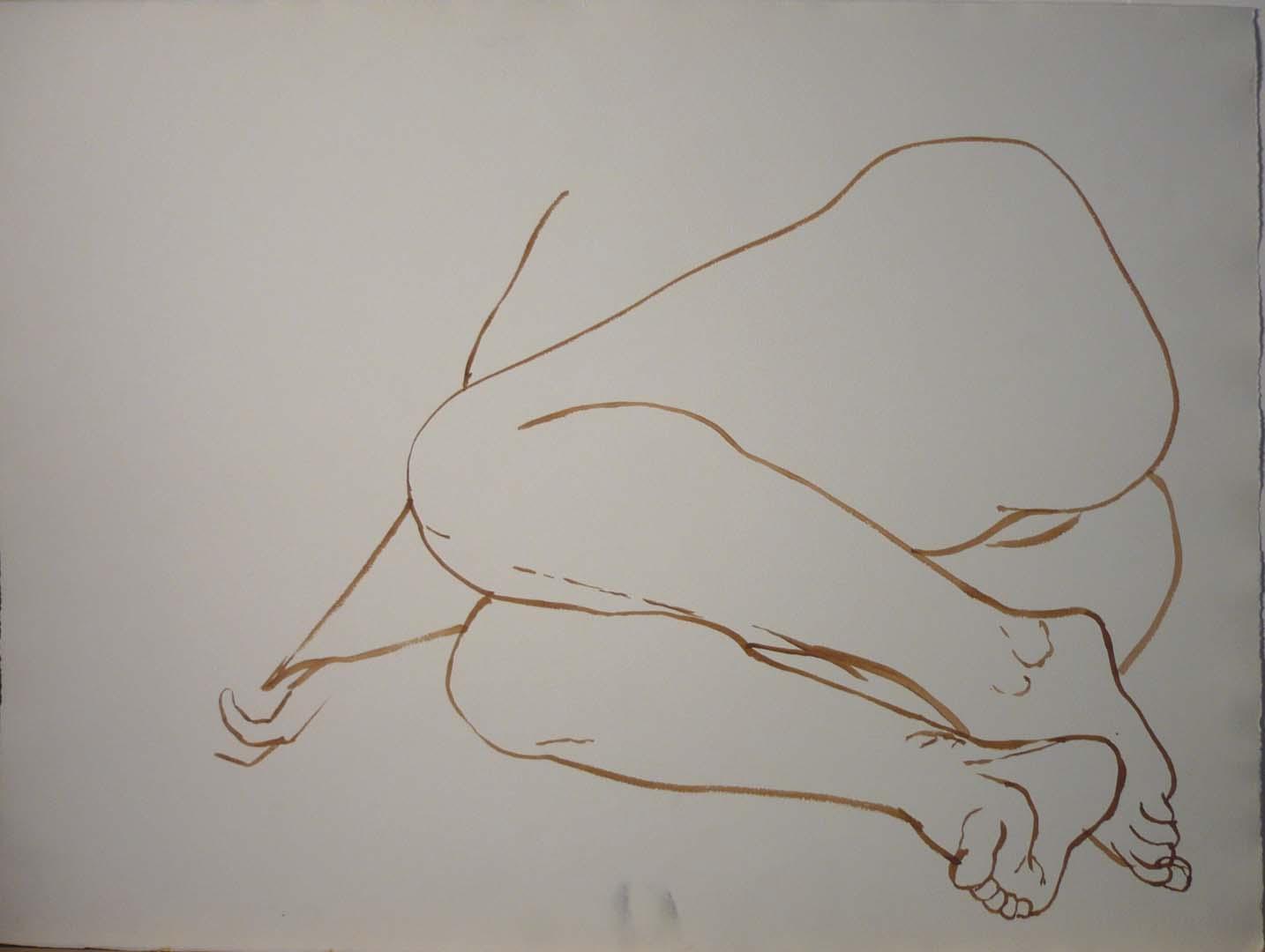 Folded Legs Sepia 22.125 x 29.875
