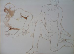 Male and Female Models in Studio Sepia 22 x 30