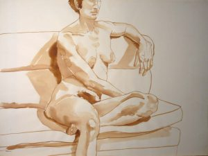 Model Seated