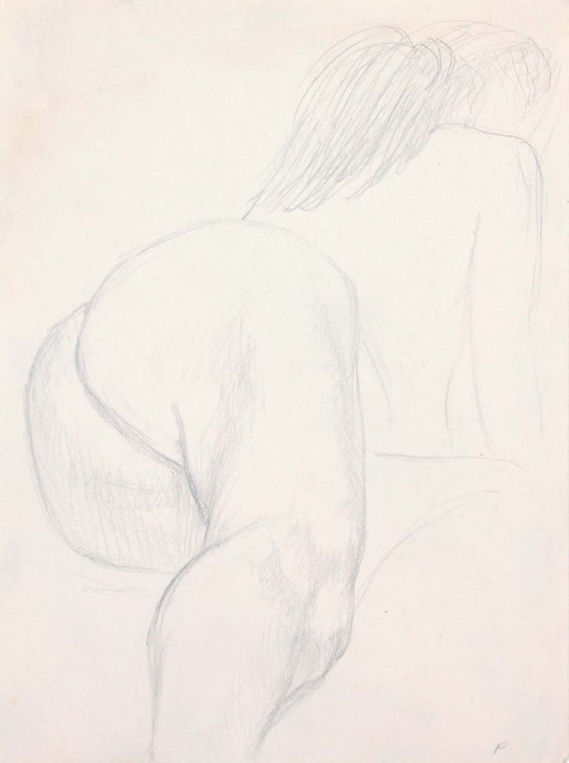 Nude Leaning Forward Pencil 12 x 9