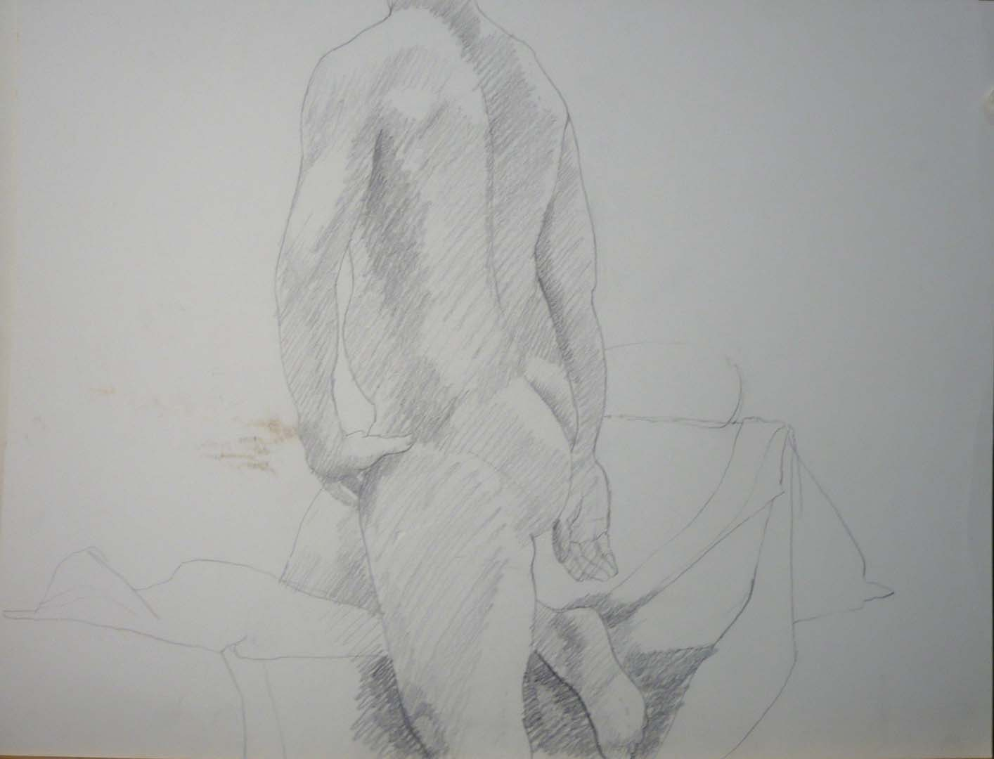 "Nude with Hand on Hip Pencil 20"" x 26"""