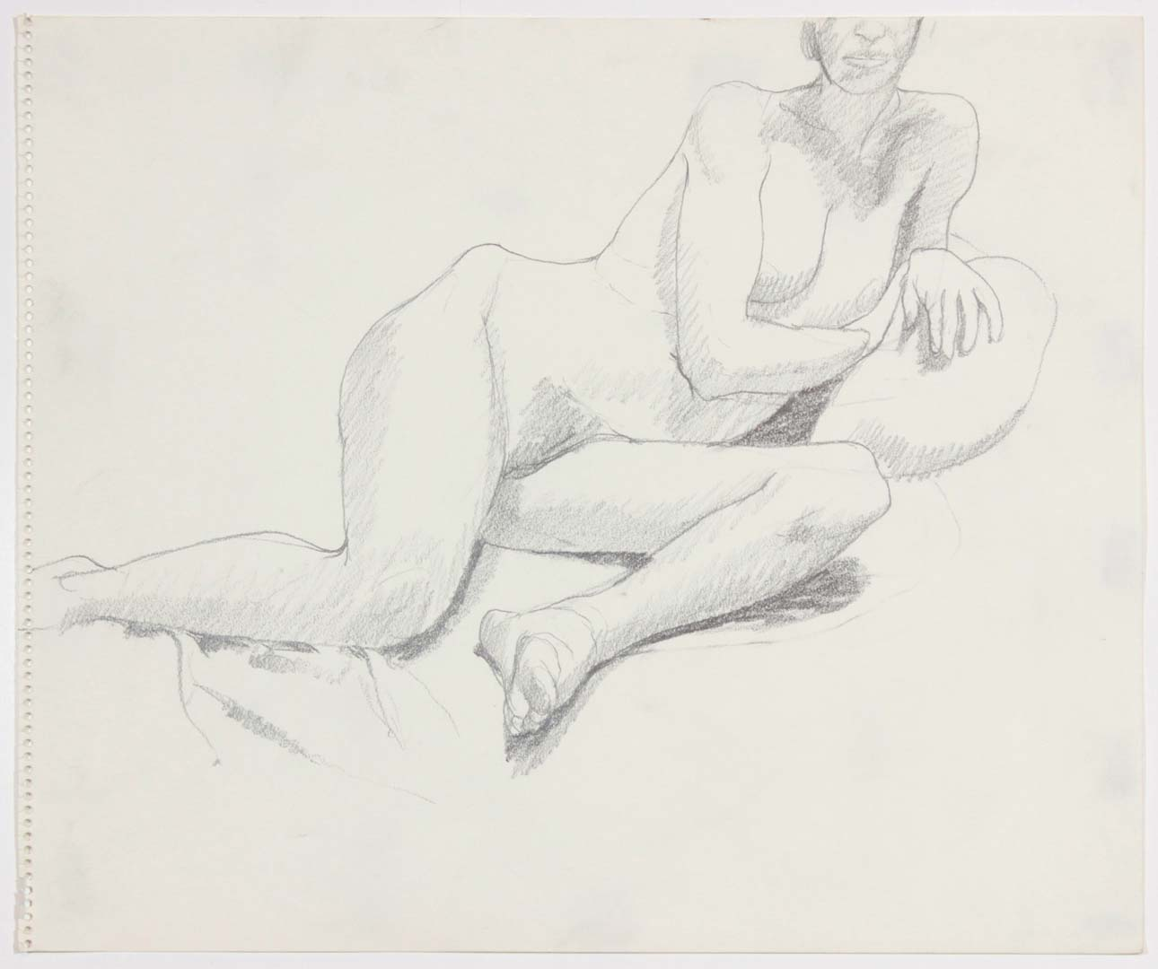 Reclining Female Pencil 14 x 17