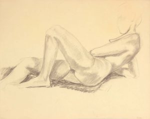 Reclining Female Nude Graphite 19 x 24