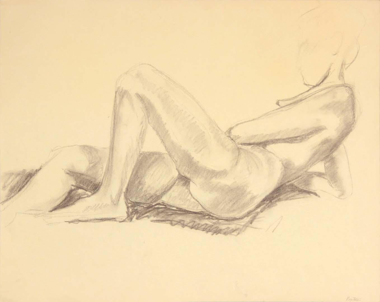 Reclining Female Nude Graphite 19 x 24