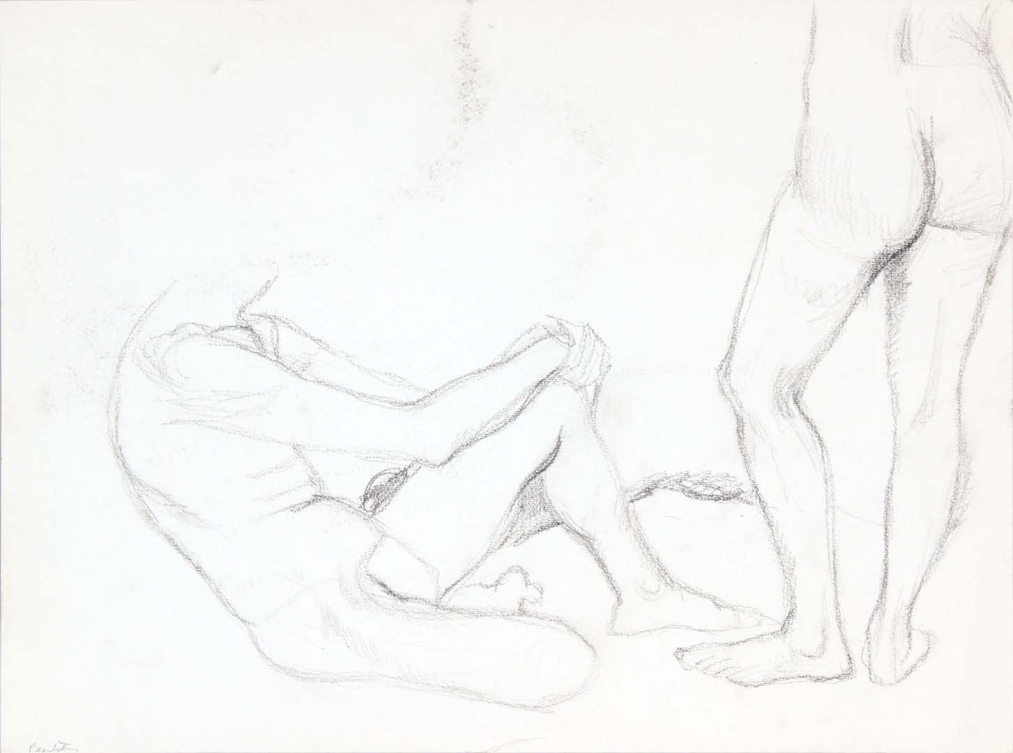 Seated Model and Standing Model Graphite 15 x 20