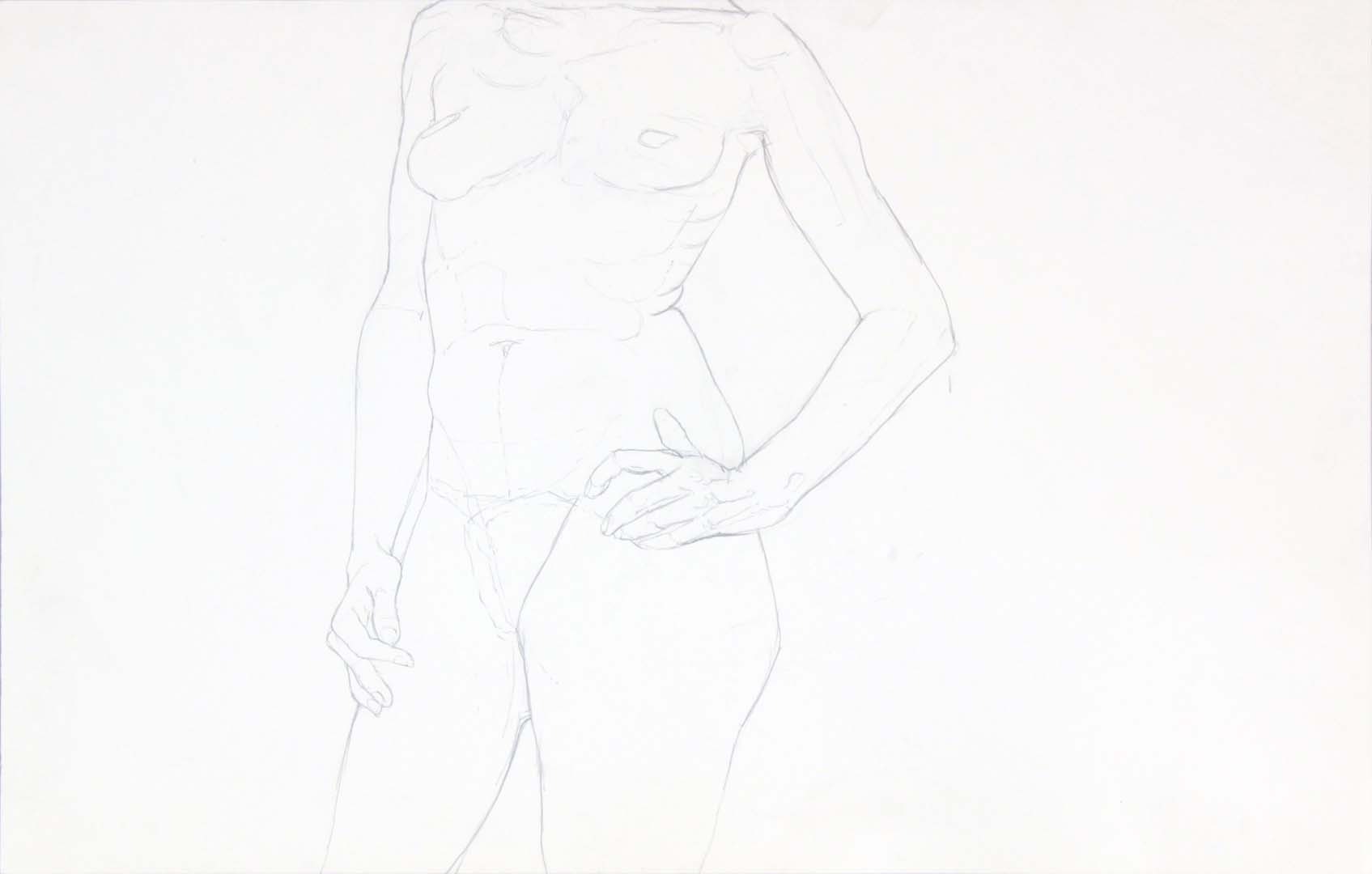 Standing Female Graphite 14 x 22