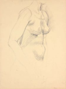 Standing Female Model Graphite 24 x 17.875