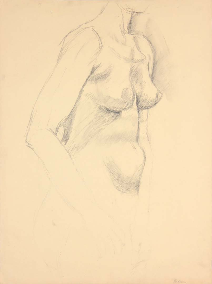 "Standing Female Model Graphite 24"" x 17.875"""