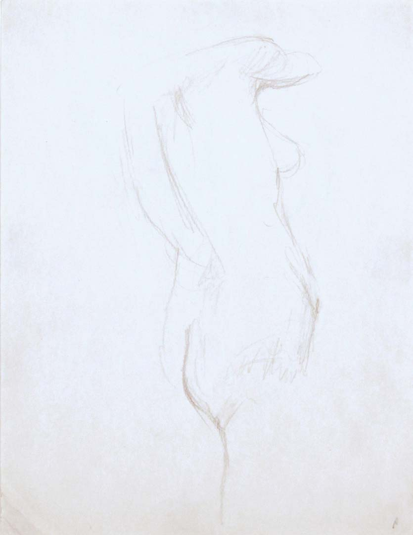 "Standing Female Model Pencil 12"" x 9"""