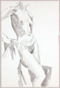 Standing Female Model Wash 20.75 x 13.75