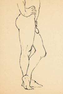Standing Male Model with Legs Crossed Ink 17.875 x 12