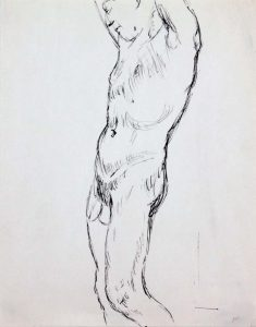 Standing Male Nude #2 Ink 12 x 9