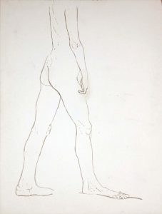 Standing Nude Wash 27.25 x 20.625