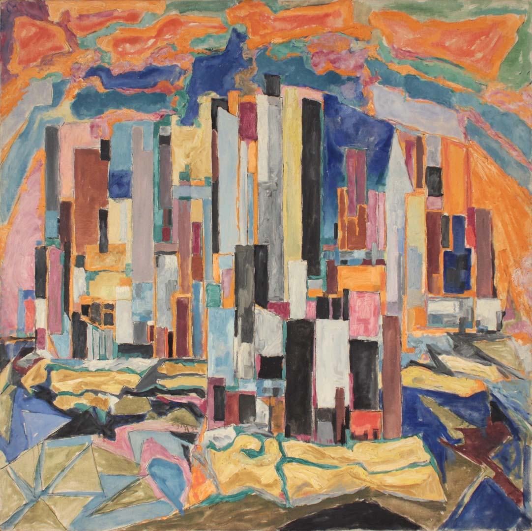 1951 The City Oil on Canvas