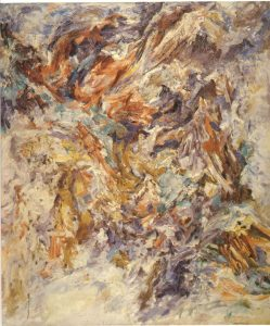 1953 Shattered Hill Oil on Canvas