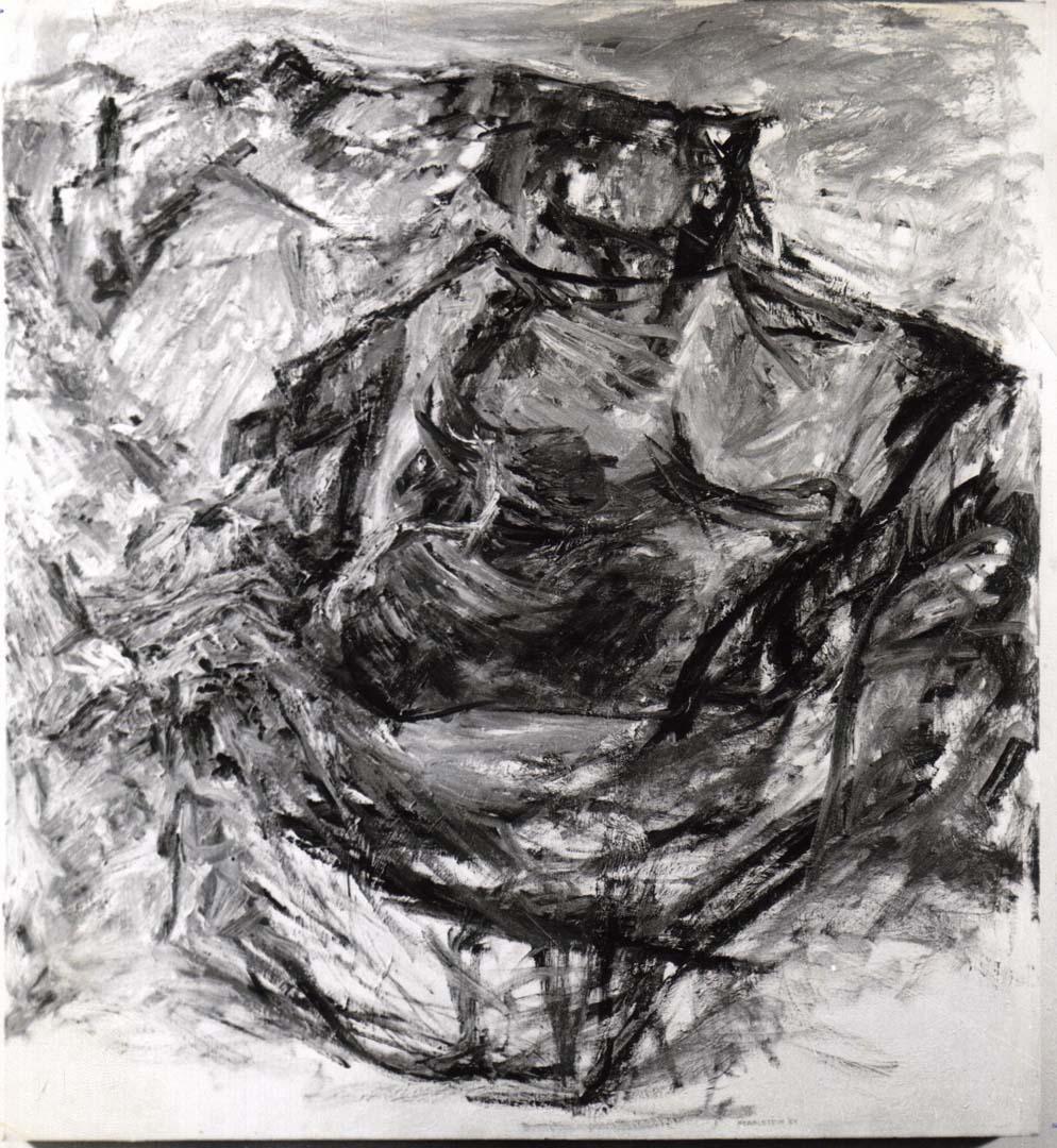 1954 Earth Fragment Oil on Canvas 40 x 36