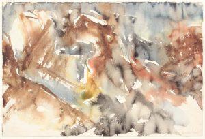 1954 Montauk Rocks #9 Watercolor on Paper 11.875 x 17.875