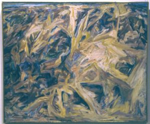 1955 Eroded Cliff Oil on Canvas 36 x 44
