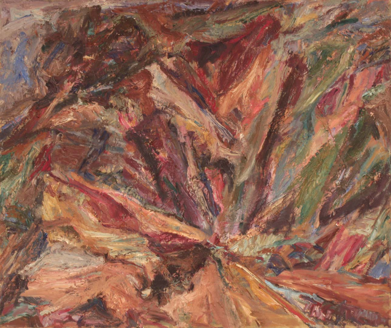 1955 Ravine and Crest Oil on Canvas 36 x 40