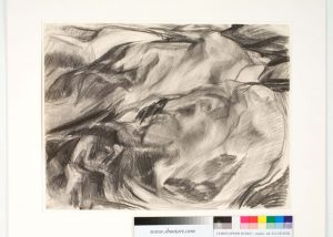 1955 Rock Forms Charcoal on Paper 18.875 x 24.74