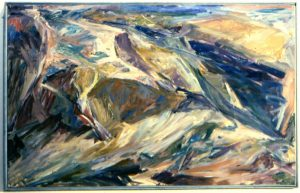 1955 Rocks and Sea Oil on Canvas