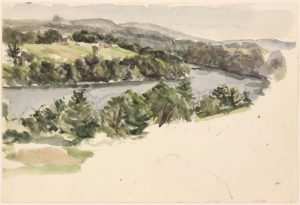1956 Deer Isle #6 Watercolor on Paper 14.875 x 22
