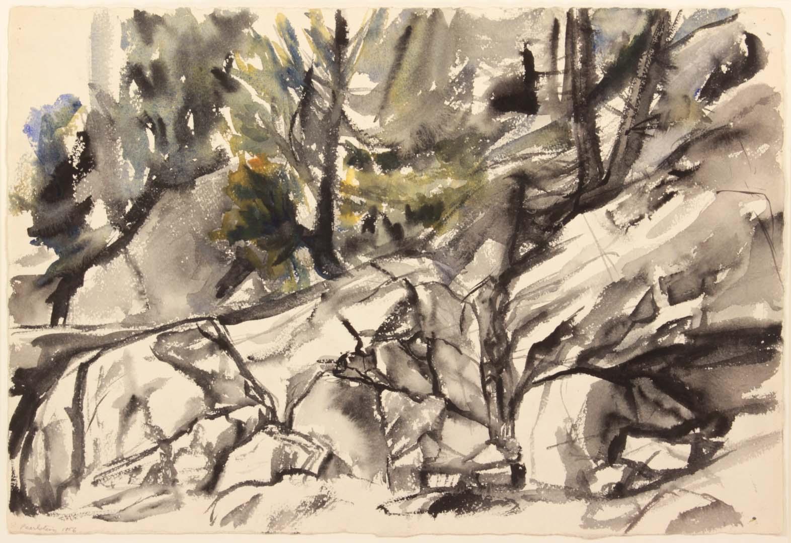 Deer Isle Rocks 3 Philip Pearlstein
